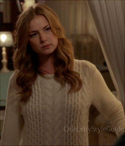 Seen on Celebrity Style Guide: Revenge Style & Fashion: Emily Van Camp, as Emily Thorne, wore this cream merino wool sweater on Revenge episode 'Secrecy'......http://rstyle.me/~10oET