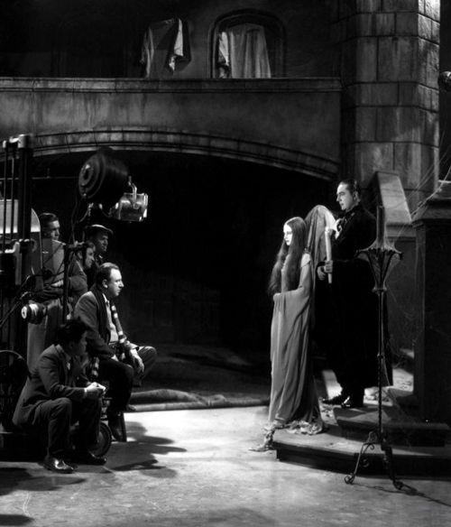 Tod Browning, Carroll Borland, and Bela Lugosi on the set of Mark of the Vampire (1935, dir. Tod Browning): Film, Vampires, Scenes, Vampire 1935, Mark, Bela Lugosi