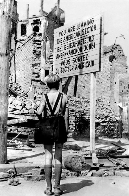 Post World War II in Berlin, Germany.