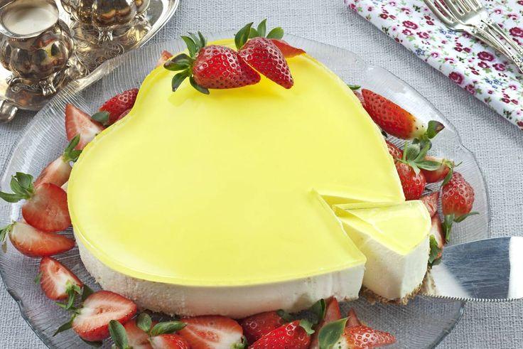Herlig ostekake med frisk sitronsmak!