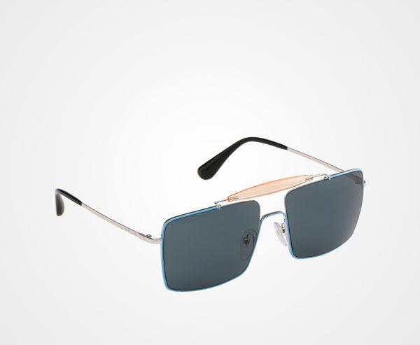 c811f085b74c Prada Shield Sunglasses With Triangle Logo