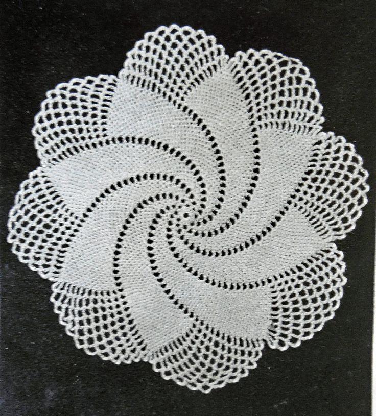 Robin Harley Blog - It's all about Handmade: Spiral Doily - 1949 Vintage Crochet written Pattern Free