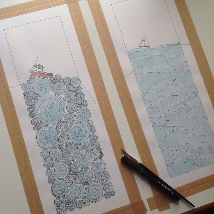Adding colour to a couple of nautical constant doodles. To see and buy doodles visit www.theconstantdoodler.co.uk