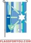 1 left - Happy Hanukkah Garden Flag