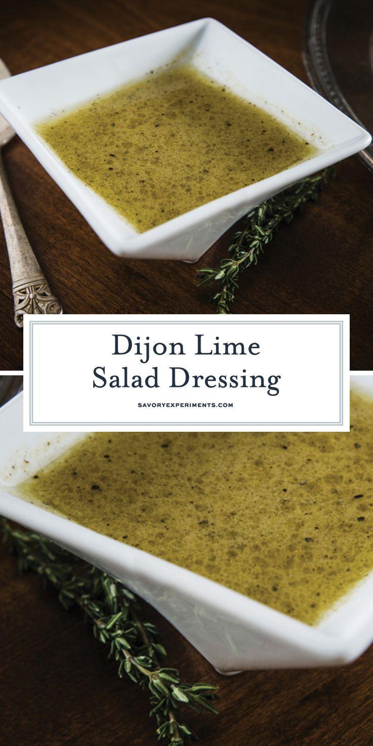 Dijon Lime Salad Dressing ist eine einfache hausgemachte Salatsoße mit Zitrusaromen …   – ketoo