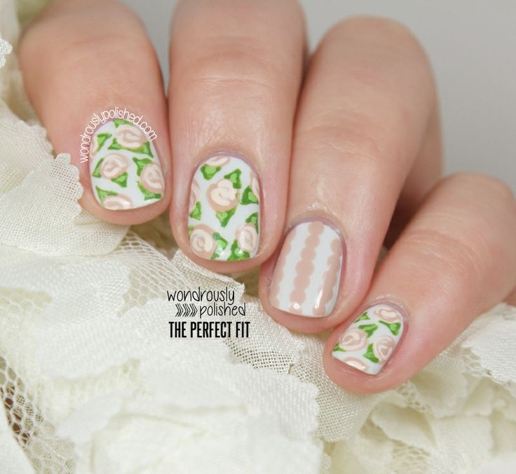 Floral nail artNails Stuff, Nails Nails, Nails Boards, Nails Awesome, Nails Designz, Floral Nails Art, Nails Time, Nails Ideas, Rose Nails