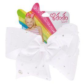 JoJo Siwa Large White Pearl Signature Hair Bow