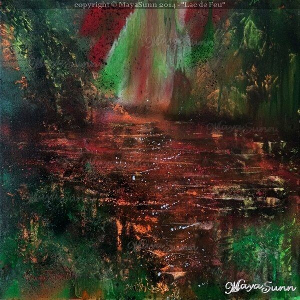 Lake of fire on canvas (SOLD)