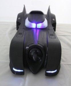 Check Out This Awesome Light-Up 3D Printed 1989 Batmobile http://3dprint.com/76278/3d-printed-1989-batmobile/
