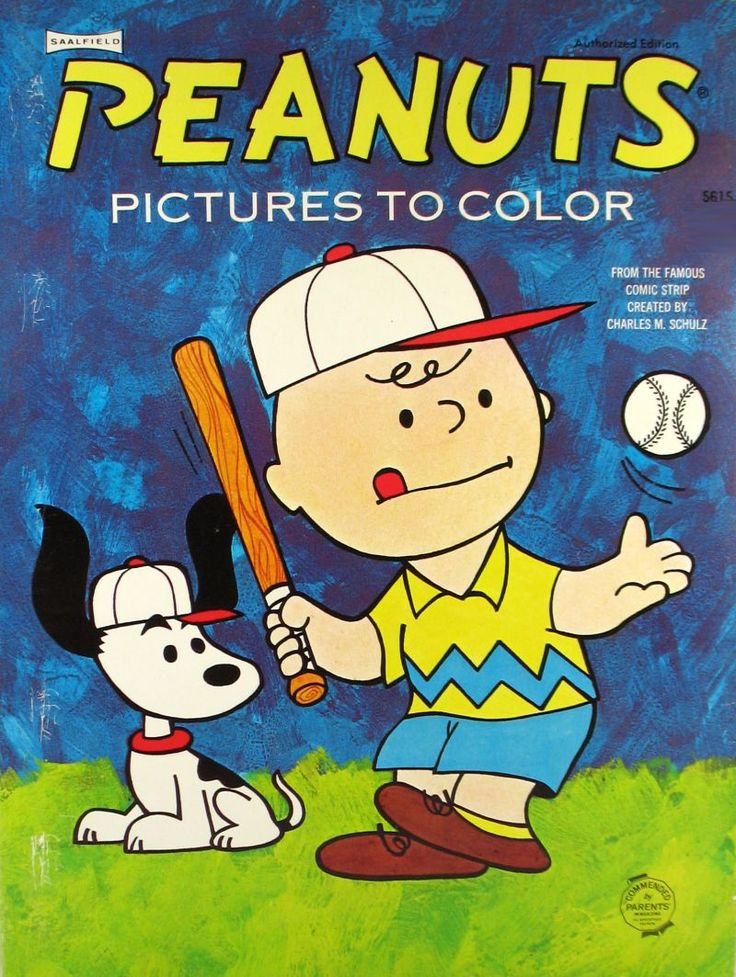 BASEBALL~1966 Vintage Peanuts Pictures to Colour