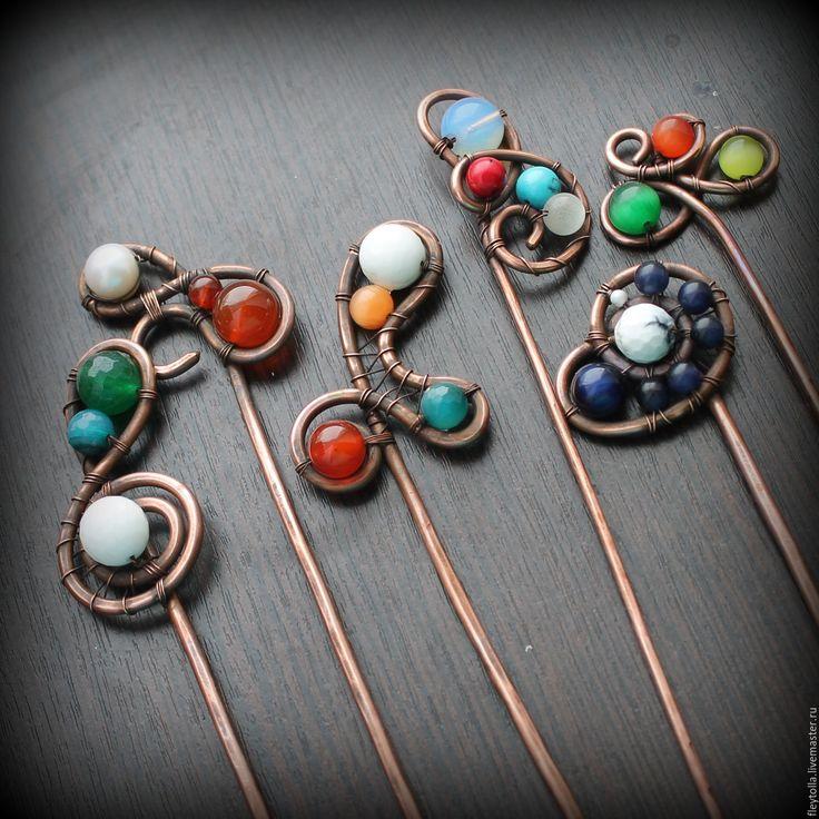 """Купить Шпильки """"Краски"""" разные - разноцветный, палочки для волос, заколка для волос, шпилька для волос, спираль"""