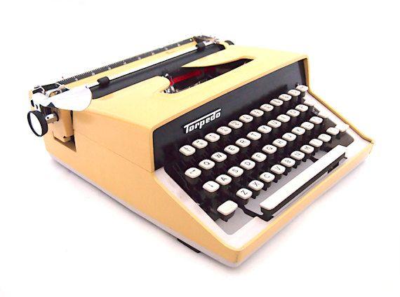 Torpedo 700 typewriter yellow typewriter modern typewriter