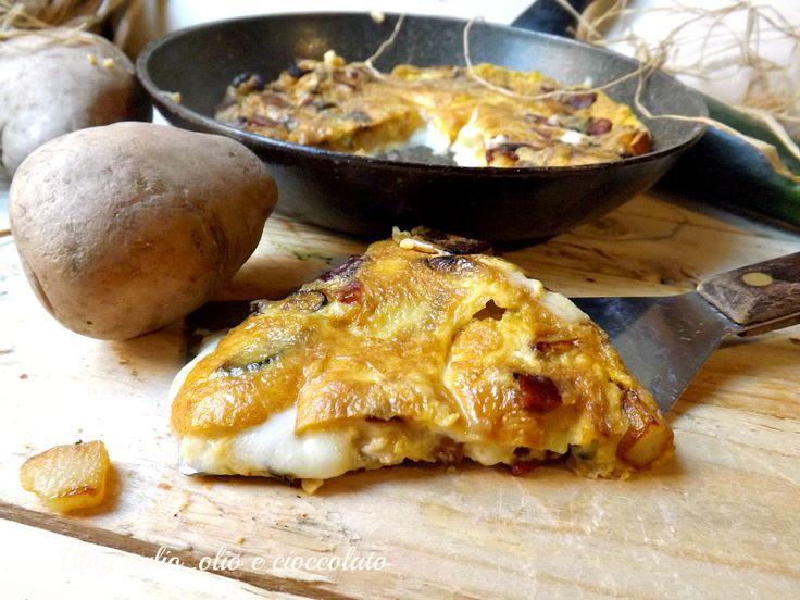 Frittata con Patate Zucchine e Mozzarella