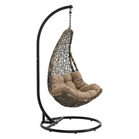Modway Abate Outdoor Patio Swing Chair, Multiple Colors Available, Brown