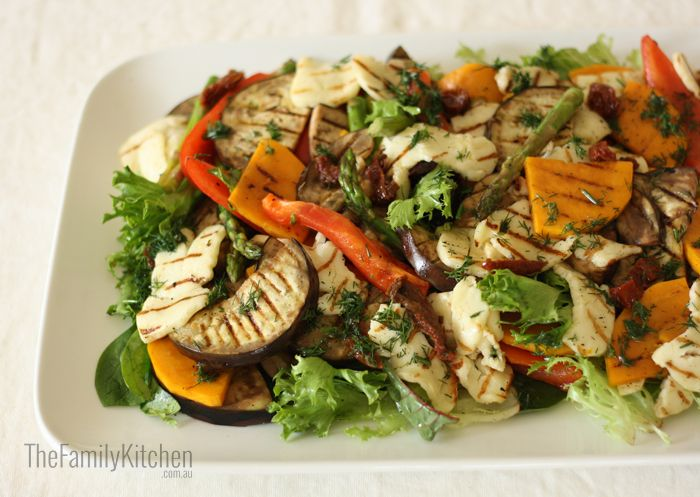 Chargrilled Vegie & Haloumi Salad with Dill Dressing
