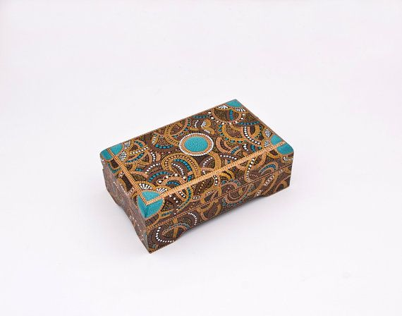 Painted jewelry box Emperor's Box / Rectangular wooden by LekaArt, $58.00