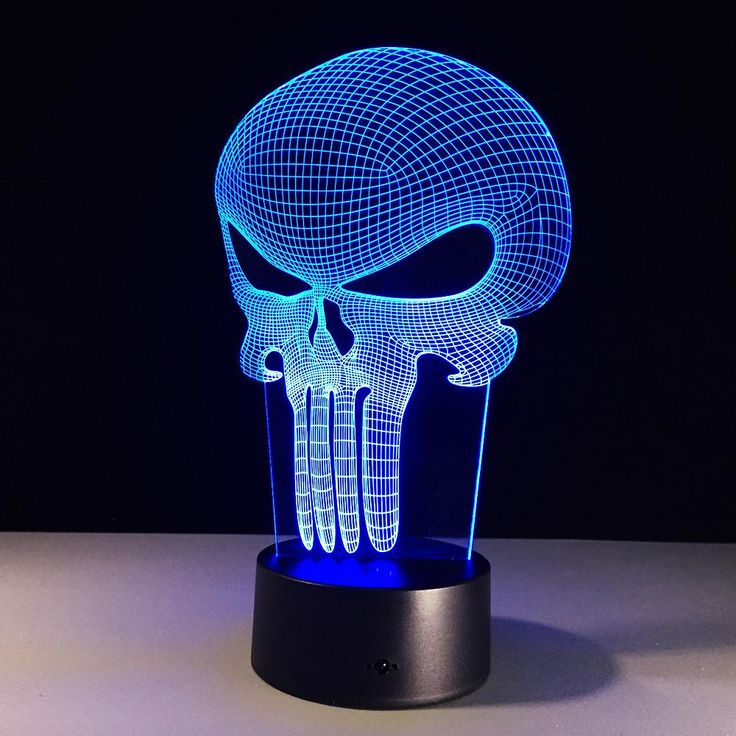Check out our new item 3D LED Color Nigh.... Just added today get it here http://everythingskull.com/products/3d-led-color-night-light-changing-lamp-punisher-skull-multi-colored?utm_campaign=social_autopilot&utm_source=pin&utm_medium=pin