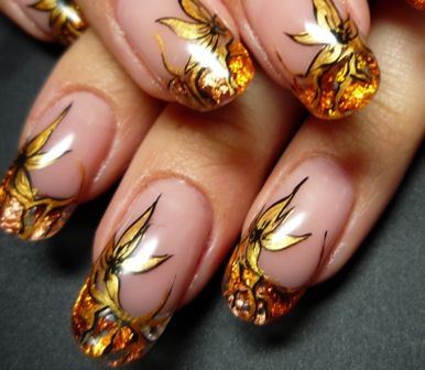 Wedding Nail Art ~ or a great design for a formal night.