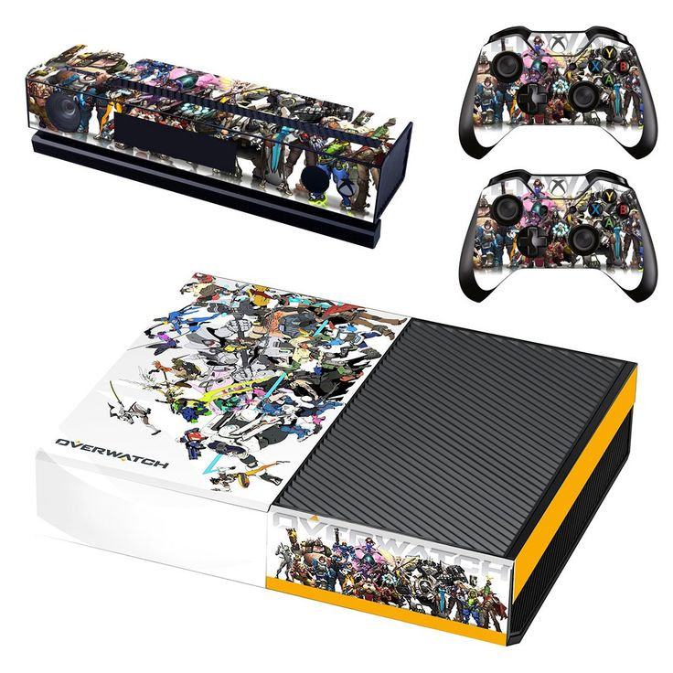 Overwatch xbox one skin decal for console and 2 controllers
