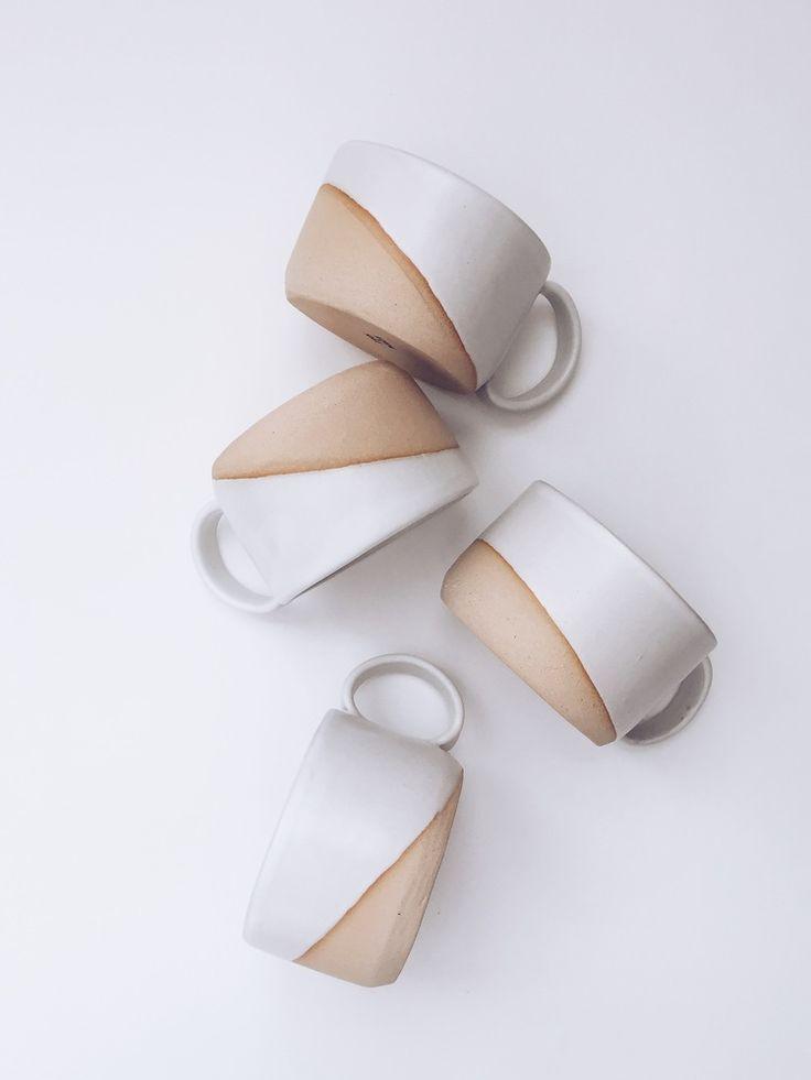 Verge Mug no. 3 in White arrow&sage ceramics modernhome