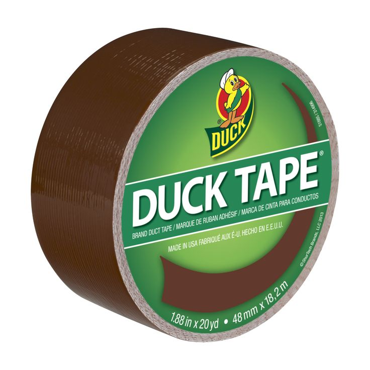 Color Duck Tape® - Brown http://duckbrand.com/products/duck-tape/colors/standard-rolls/brown-188-in-x-20-yd?utm_campaign=color-duck-tape-general&utm_medium=social&utm_source=pinterest.com&utm_content=color-duct-tape