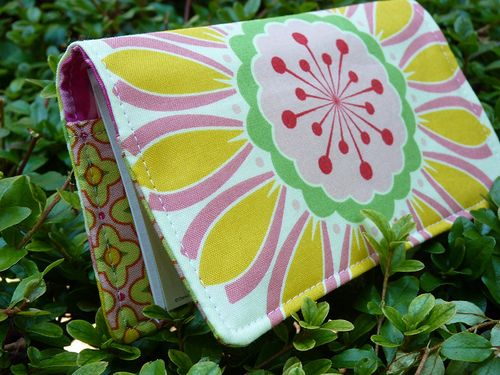 check book cover tutorial - I have made this. This fabric is super cute!