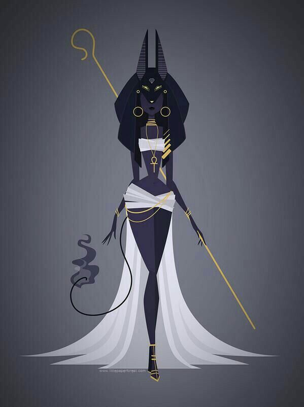 Love this design! Kinda reminds me of a more human version of Bastet or female Anubis.