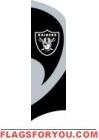 Raiders Tall Team Flag 8.5' x 2.5'
