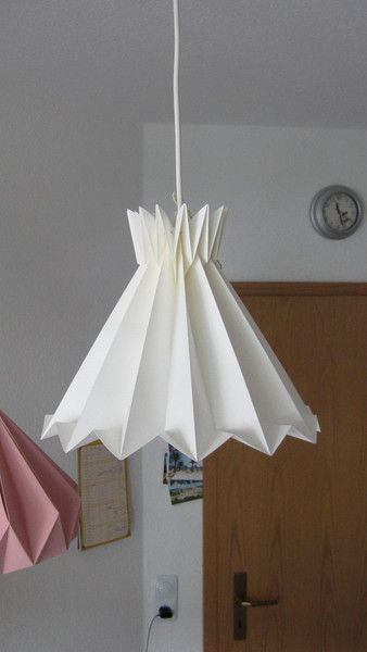 Origami Lampshade, folded paperlamp, paper lampshade, plisseelamp,Plissee lamp