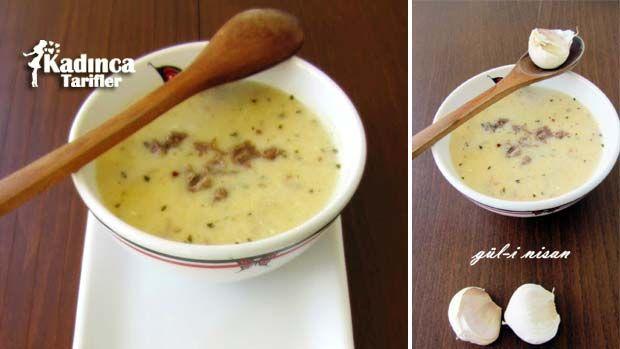 Sarımsaklı Et Suyu Çorbası Tarifi nasıl yapılır? Sarımsaklı Et Suyu Çorbası Tarifi'nin malzemeleri, resimli anlatımı ve yapılışı için tıklayın. Yazar: Gül-i Nisan Mutfağı