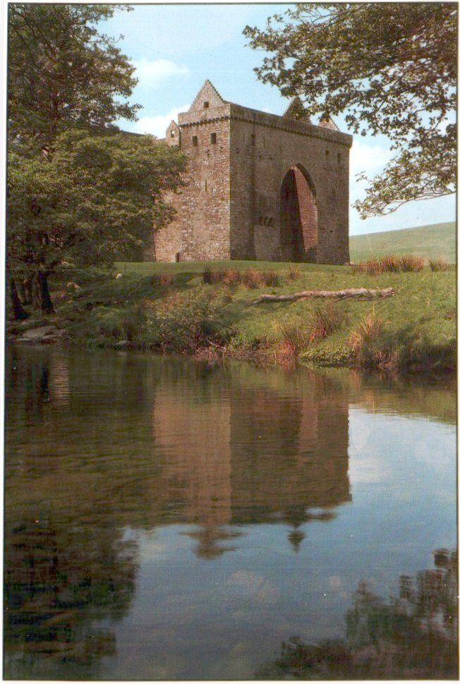 Hermitage Castle, Scotland, built in 1240 and built by Nicholas de Souis