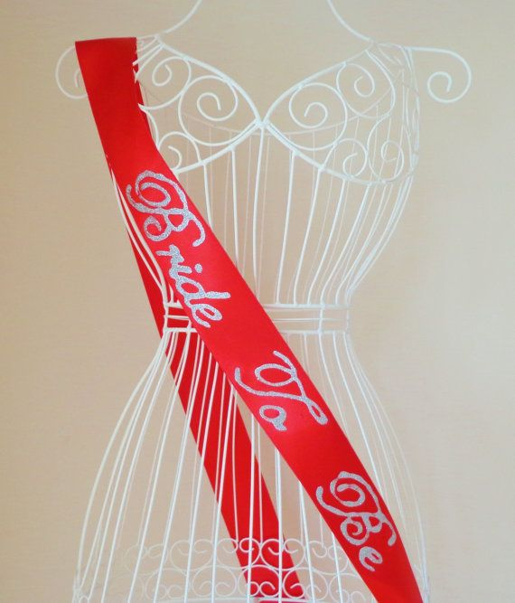 Bride to Be Sash  Bridal Sash Wedding Sash Bride Sash by byrosali