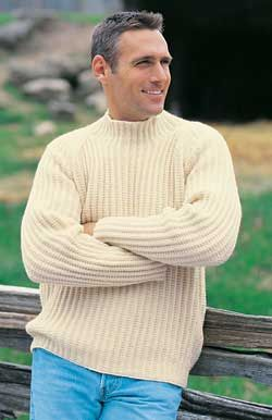 Free Knitting Pattern - Men's Sweaters: Rugged Raglan Sweater