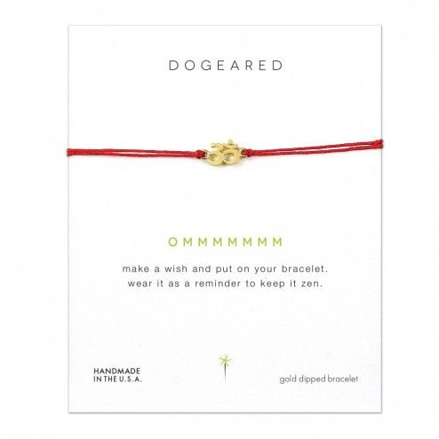 Dogeared Om Charm Red Linen Bracelet at aquaruby.com