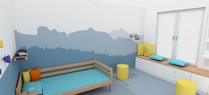 Wandgestaltung Kleines Kinderzimmer :  , besondere Wandgestaltung, kleines Kinderzimmer gut aufteilen