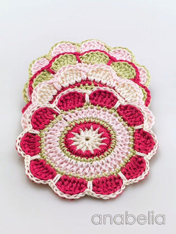 390 best images about Crochet Home: Coasters & Placemats ...