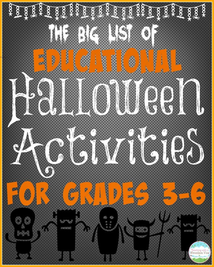 educational halloween activities for the big kids - Halloween Crafts For The Classroom