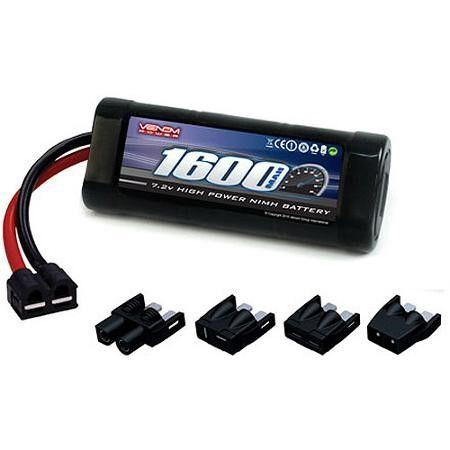 Venom NiMH Battery for Traxxas Ford Fiesta 1:16 7.2 1600mAh 6-Cell with UNI Plug