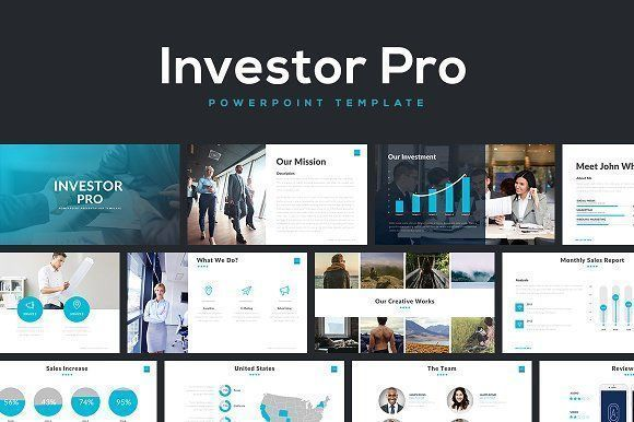 Investor Pro Powerpoint Template by Rocketo Graphics on @creativemarket Professional creative design Presentation Template Slides. Creative, modern, clean, minimalist, trendy, marketing Promotion Promo Posts for Business, Proposal, Marketing, Plan, Agency, Startups, Portfolio Design Layout. #powerpoint #template #design #presentation#slide #slideshow