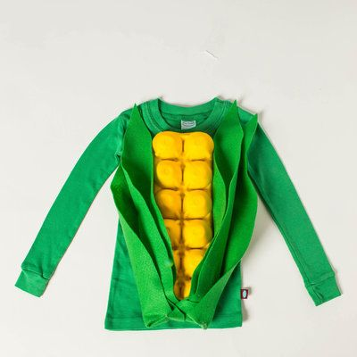 "How To Make Ear of Corn Costume for ""corndog"""