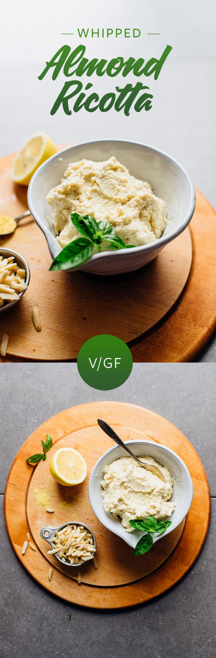"""Vegan """"ricotta"""" using almonds (and only 4 other ingredients!) actually sounds pretty awesome.    via Minimalist Baker"""