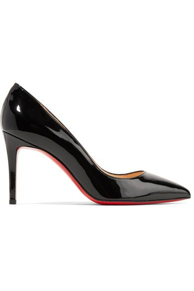 Christian Louboutin - Pigalle 85 Patent-leather Pumps - Black - IT35.5