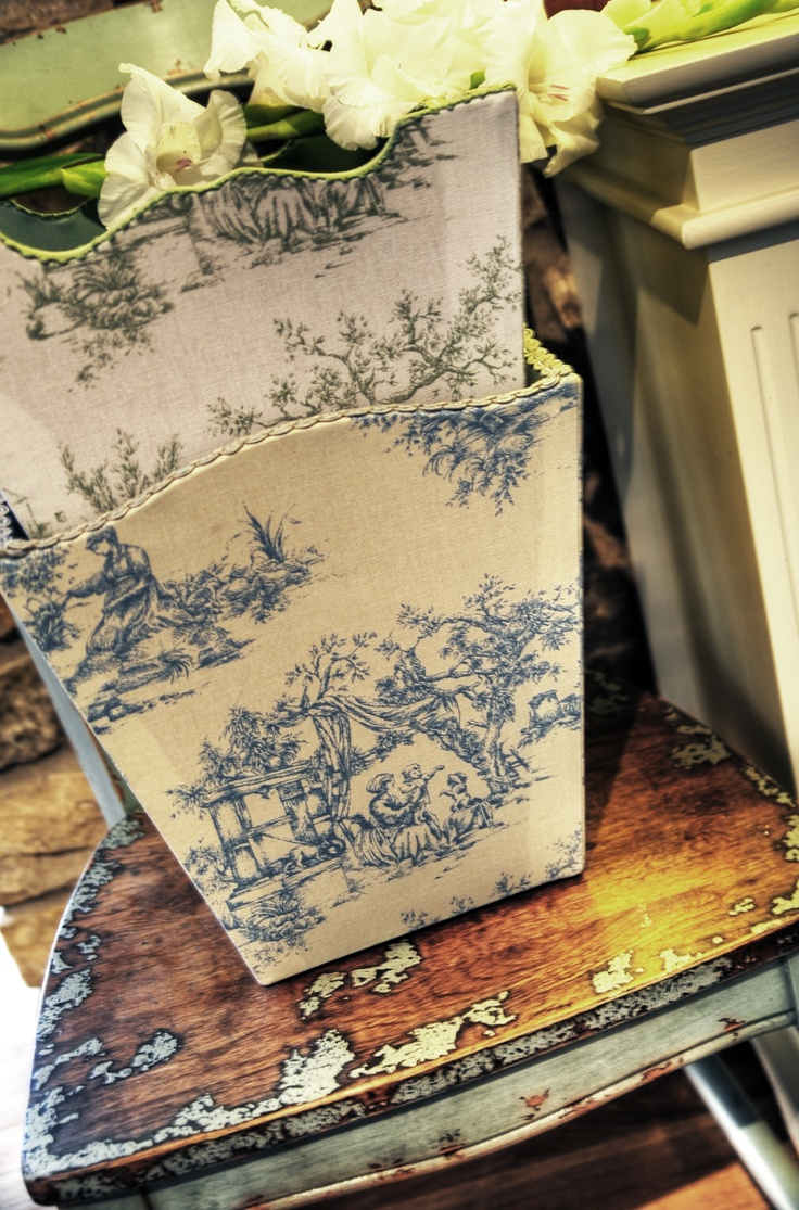 Can't go wrong with Toile design (especially in baby blue!) - classic but still so nice...