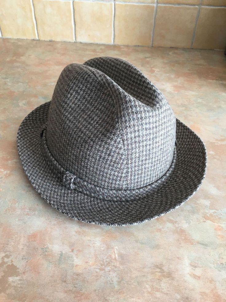 Vintage Stetson Fedora Gangster Hat Plaid Pattern Size 6 7/8 #Stetson #Fedora