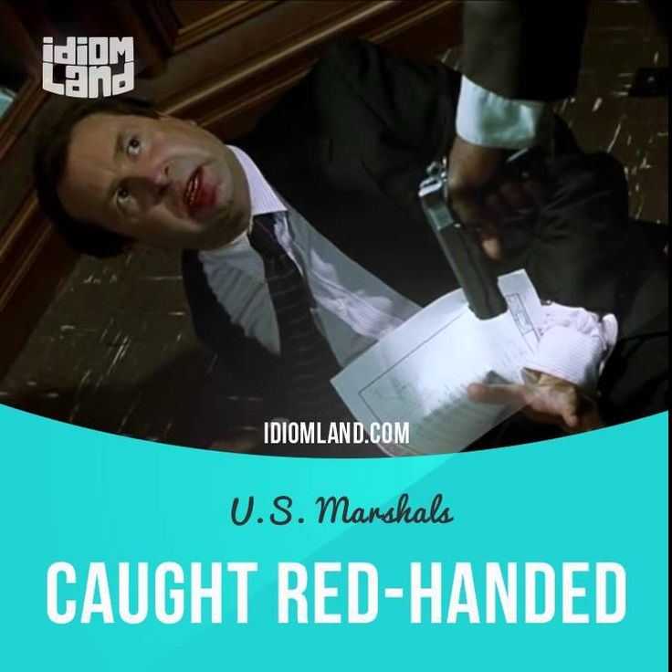 """Caught red-handed"" means ""to catch a person in the act of doing something wrong"". Text in the clip from ""U.S. Marshals"": - Why'd you set me up?! - Lamb was closing in. We needed a fall guy. With you caught red-handed... we were free and clear. - We? Who's we? - I can't… - Who is we? #idiom #idioms #slang #saying #sayings #phrase #phrases #expression #expressions #english #englishlanguage #learnenglish #studyenglish #language #vocabulary #efl #esl #tesl #tefl #toefl #ielts #toeic #redhanded"