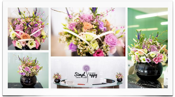 Spring madness corporate floral arrangement