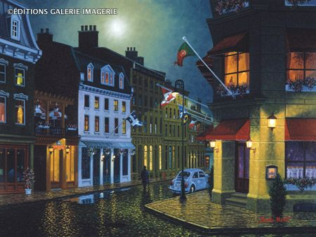 Night in Old Montreal ~ by Denis Nolet