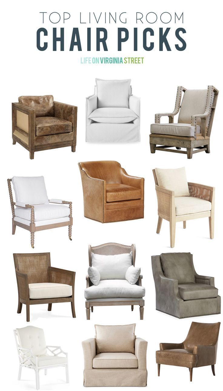 A collection of living room chairs perfect for coastal or beachy style traditional homes includes a variety of cane chairs spindle chairs leather chairs