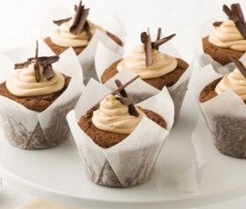 Mocha Cupcakes: Looking for an alternative to plain cupcakes, try this variation for an adults only party.