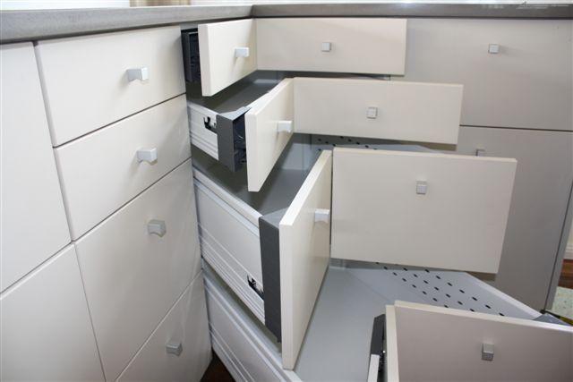Corner cabinet for modern kitchen storage
